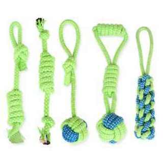 Interactive Dog Toys Pet Puppy Tug Play Chew Toy Braided Cotton Rope Fun