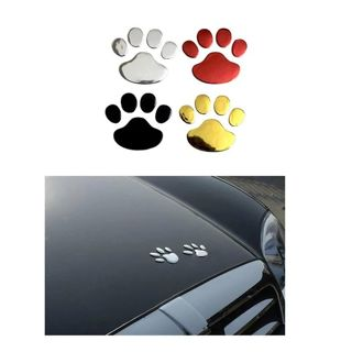 Car Sticker Cool Design Paw 3D Animal Dog Cat Bear Foot Prints