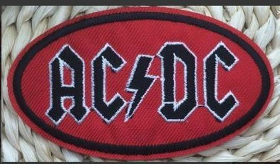 1 NEW AC/DC Band IRON ON Patch Hard Rock and Roll Hot TopicClothing Embroidery Applique Badge FREE