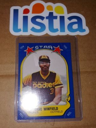 DAVE WINFIELD⭐SAN DIEGO PADRES⭐1981 TOPPS ALL-STAR STICKER⭐UNPEELED EX VINTAGE⭐FREE $HIPPING