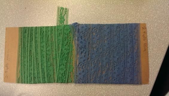 Green & Blue Flat Lace
