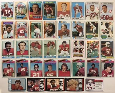 37 St. Louis Cardinals 1960s 70s 80s Topps + Philadelphia Gum Football Cards Lot