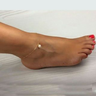 Sexy Women Pearl Bead Gold Ankle Chain Anklet Bracelet Foot Jewelry Sandal Beach