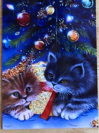 "ADORABLE CHRISTMAS KITTENS - 4 x 5"" MAGNET"