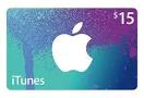 ~*~*~ $15 Itunes e-gift card ~*~*~ * ***GIN***