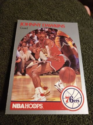 Basketball Card - Johnny Dawkins 1990