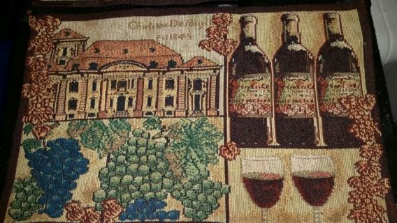 Two Tapestry Placemats