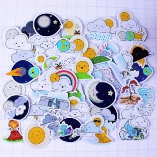 ✳️ Weather Kawaii High End Sticker Flakes Set of 10 BRAND NEW ✳️