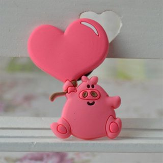 Cute heart pig Fridge Magnets For Kids Decorative Refrigerator Magnets Cheap Small Magnetic Sticker