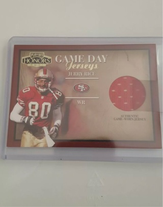 Jerry Rice Jersey card playoff 2001 BV at $40