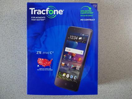 NIB ZTE ZFIVE C Tracfone Android Smartphone