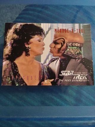 1995 The next Generation STAR TREK Season Three. Menage-A-Troi Episode 72 Card #302