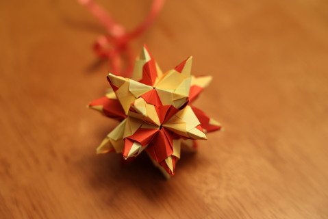 Origami Star as a Christmas Ornament *unique and handmade*