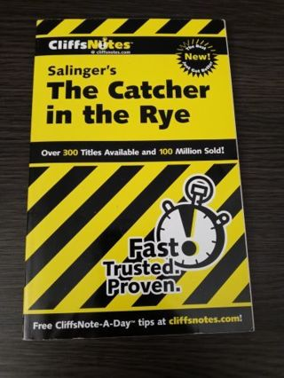 Salinger's The Catcher in the Rye Cliff Notes