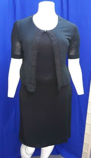 ALFANI Dress XL Black Tie Back with Sweater Cover!!