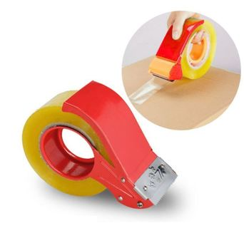 Portable Metal Tape Dispenser Adhesive Manual Device Sealing Tape Cutting Tape Sealer Carton Package