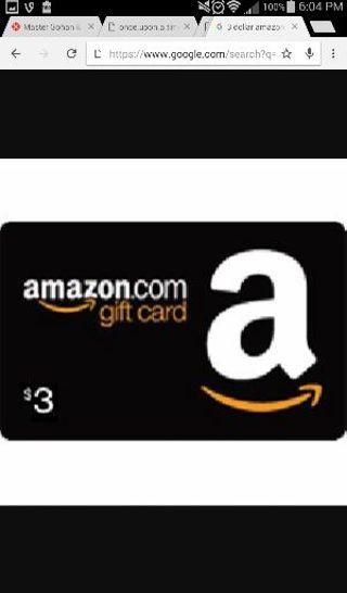 $3 dollar Amazon gift card