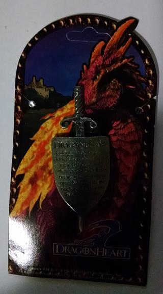 Dragonheart Sword & Shield pin - Knight's Code of Honour
