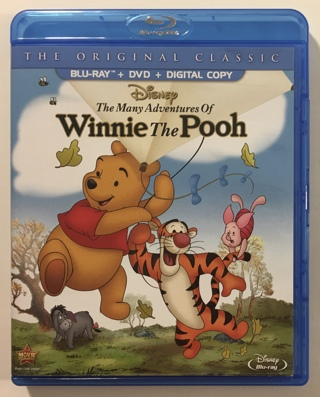 Disney The Many Adventures Of Winnie The Pooh Blu-ray / DVD Combo Movie with Case