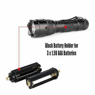2pcs Black Battery Holder for 3 X 1.5v Flashlight AD L2