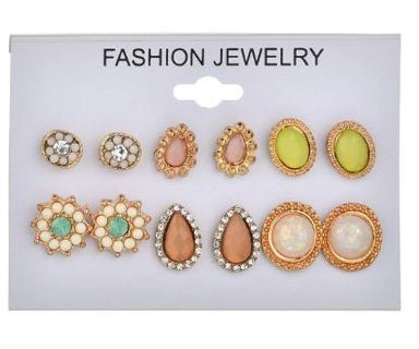 New Style Symbol Stud Earrings Set for Women Gift E2868