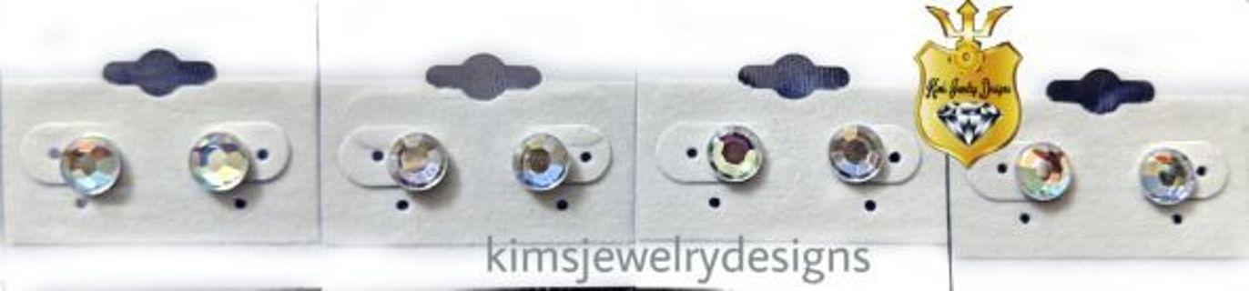 New Iridescent stud earrings, ❤️GIN gets 2 pair❤️
