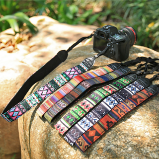 Vintage Camera Shoulder Cotton Neck Belt Strap for SLR DSLR Canon Nikon Durable