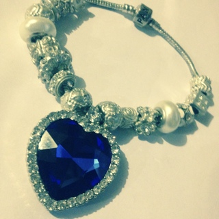 Large Heart of The Ocean Euro Bracelet