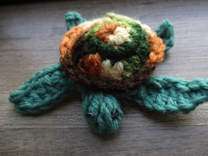 Sea Turtle. New. Crocheted by Me.