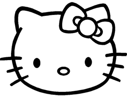 Hello Kitty Coloring Pages Crayons 2 Glue Sticks