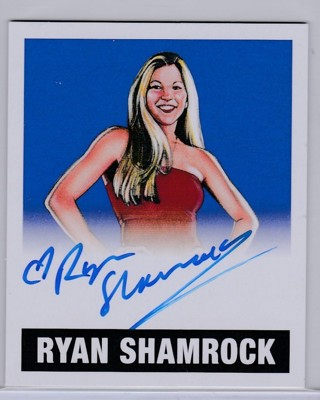 Leaf WWE Wrestling 2017 ~ RYAN SHAMROCK Authentic Autograph SSP #d to Only 10 !!