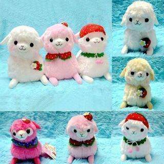 Alpacasso Arpakasso Strawberry Alpaca Plush Stuffed Doll Toy 16cm
