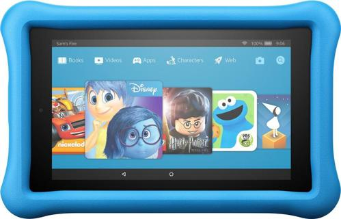 "Amazon - Fire Kids Edition - 7"" - Tablet - 16GB 7th Generation, 2017 Release - Blue"
