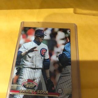 Free 1993 Topps Stadium Club Sammy Sosa Baseball Card