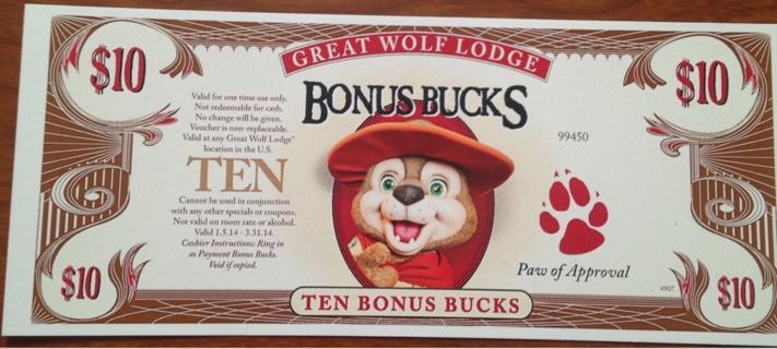 Free: $10 Great Wolf Lodge Bonus Bucks - Gift Cards - Listia.com ...