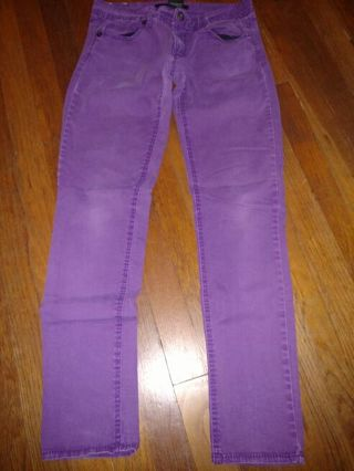 Girls purple jeans size 5