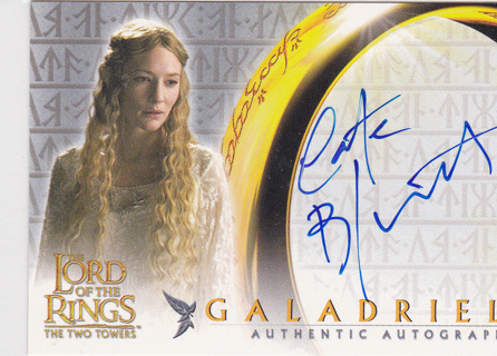 Lord of the Rings autograph card Topps