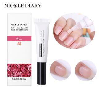 NICOLE DIARY 1Pc Cuticle Revitalizer nutrition Oil Nail Art Treatment Manicure Soften Pen Tool Nai