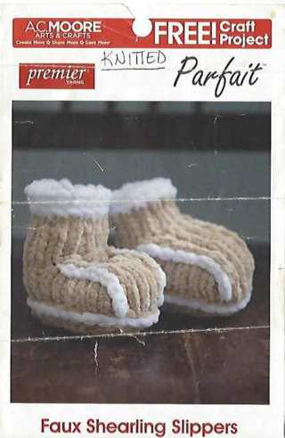 Faux Shearling Slippers - Knit