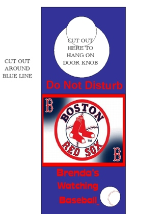"""Great for sports fan/baseball fan Personalized door sign """"please see example"""" will Email"""