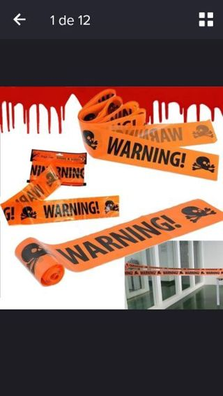 Halloween warning!! Tape signs