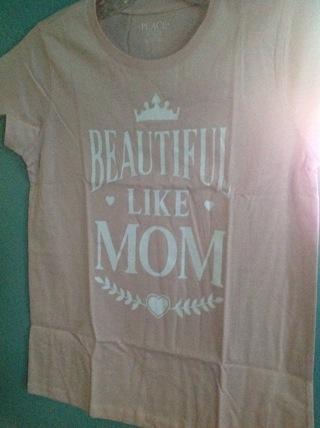 BEAUTIFUL LIKE MOM TEE SIZE 14