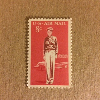 Amelia Earhart Stamp ~ U.S. Air Mail 8 Cent Postage Stamp ~ MNH!