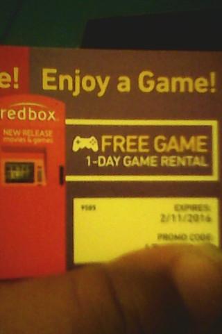 #3 redbox 1-Day free game rental