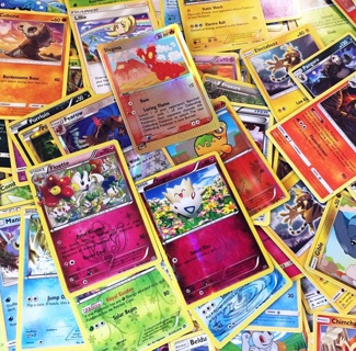 Pokemon Cards MYSTERY4-PACK Free HOLO FOIL REVERSE Pokemon Cards Anime Pocket Monster Manga