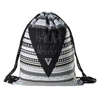 Hakuna matata Women geometric Backpack 3D printing travel softback