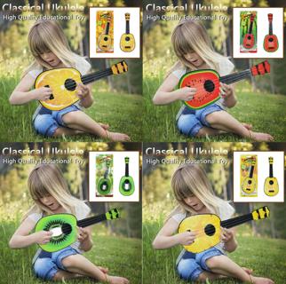 Beginner Classical Ukulele Fruit Guitar Educational Musical Instrument Toy