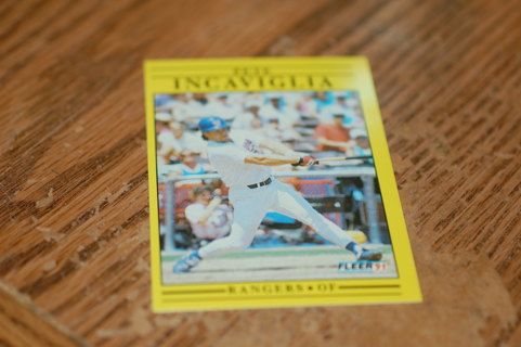 One Pete Incaviglia Texas Rangers Baseball Card