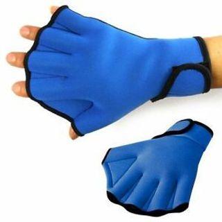 Aqua Frog Training Swimming Surfing Aid Fingerless Gloves Swim Webbed Glove
