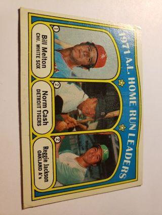 1972 American league homerun leaders Cash Melton Jackson vintage baseball card